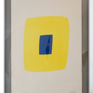 Yellow with Dark Blue (Jaune avec Bleu Foncé), from the Suite of Twenty-Seven Color Lithographs art for sale