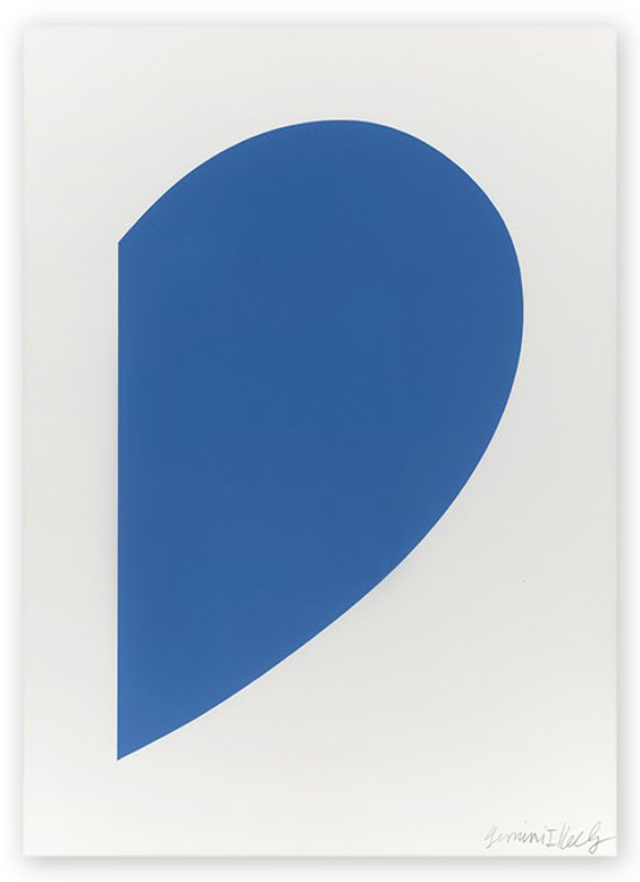 main work - Ellsworth Kelly, Small Blue Curve