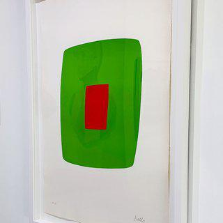 Green with Red art for sale