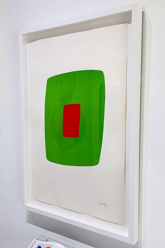 main work - Ellsworth Kelly, Green with Red