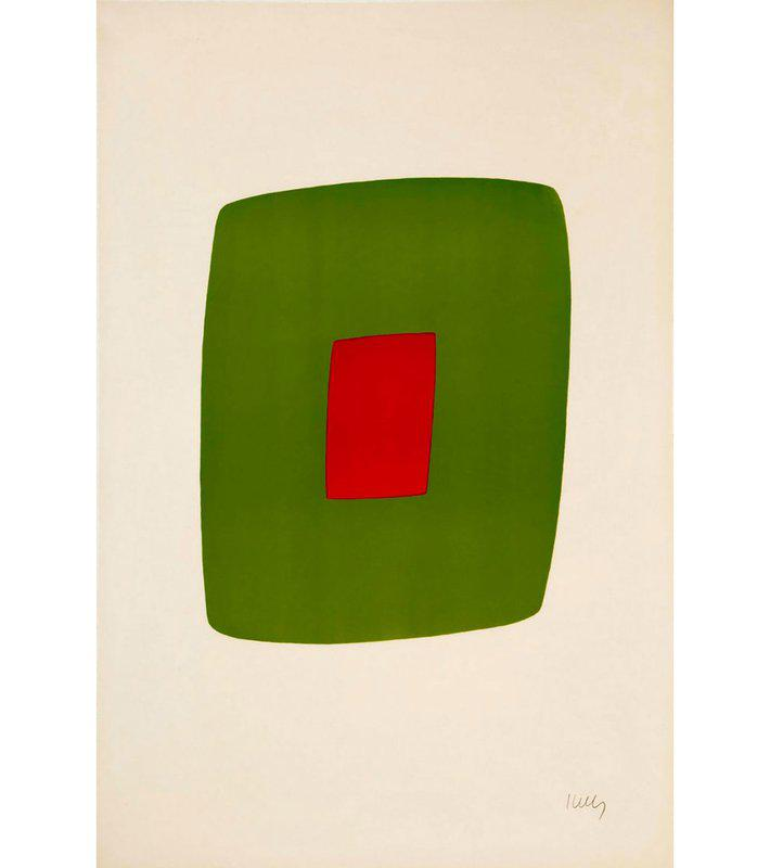 view:35528 - Ellsworth Kelly, Green with Red -