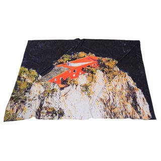 Casa Malaparte Beach Blanket art for sale
