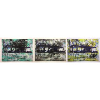 Glass House Set of 3 art for sale
