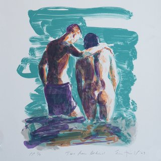 Eric Fischl, Two From Behind