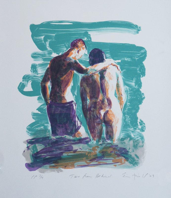 main work - Eric Fischl, Two From Behind