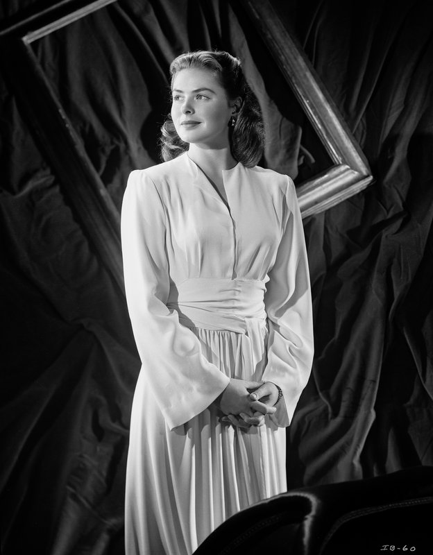 9acfd856195dd8 Ernest Bachrach - Ingrid Bergman in White Dress for Sale | Artspace