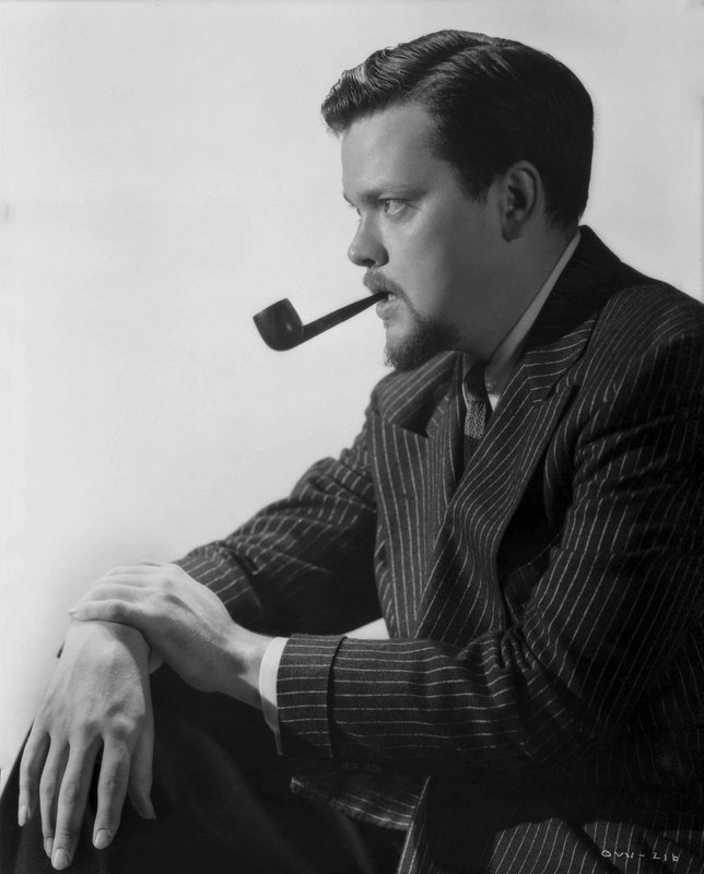 5a48cf44e98e5c Ernest Bachrach - Orson Welles Profile with Pipe for Sale | Artspace