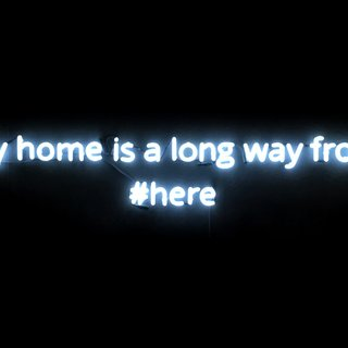 my home is a long way from #here art for sale