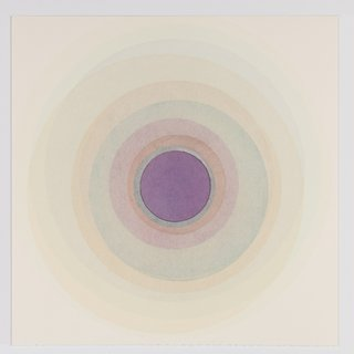 Coaxist 10419 - Soft pastel color abstract geometric circle watercolor on paper art for sale
