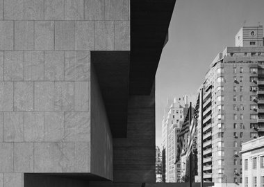 Ezra Stoller - Whitney Museum, Marcel Breuer, New York, NY (Gary Stoller and Lincoln Kirstein)