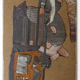 Fanny Allié, Cardboard Portraits Series - Woman Searching