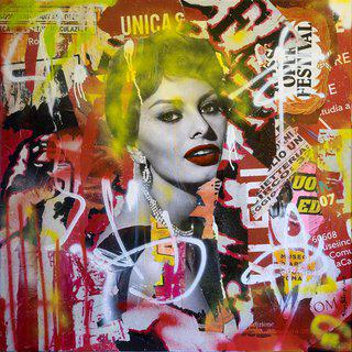 TO SET THE WORLD ON FIRE - Sophia Loren art for sale