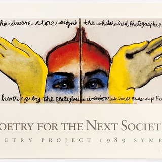 Francesco Clemente, The Poetry Project Poster