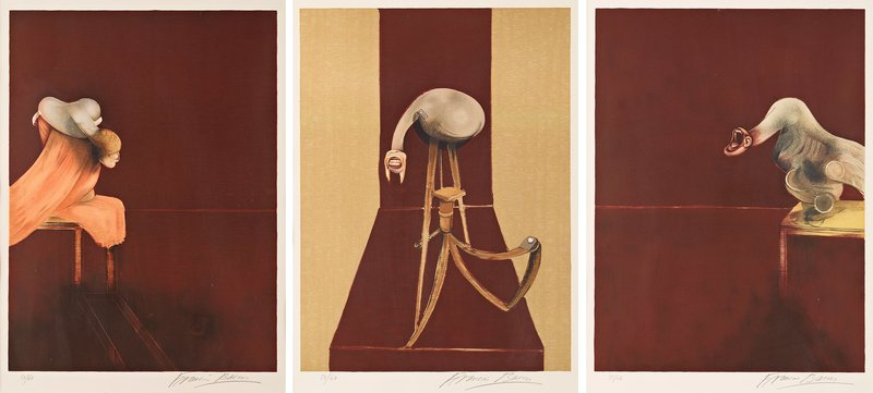 main work - Francis Bacon, Second Version, Triptych 1944