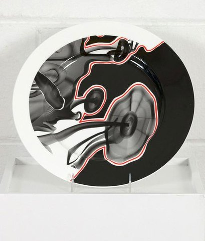 "Frank Stella - ""Vortex Engraving"" China Plate, Design and Decorative Arts"