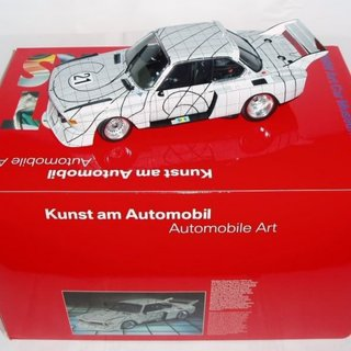 The Art Car: Limited Edition BMW Minichamps of Frank Stella's 1976 Le Mans The Graph Car, Scale 1:18, 3.0 CSL No.21 art for sale