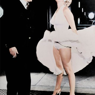 "Frank Worth, Marilyn Monroe on the set of ""The Seven Year Itch"" - Colorized"