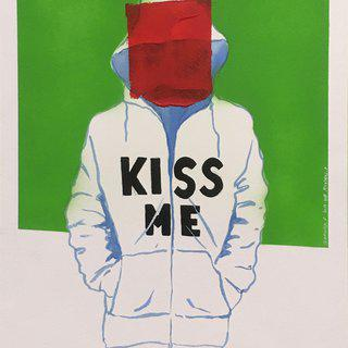 Kiss me art for sale