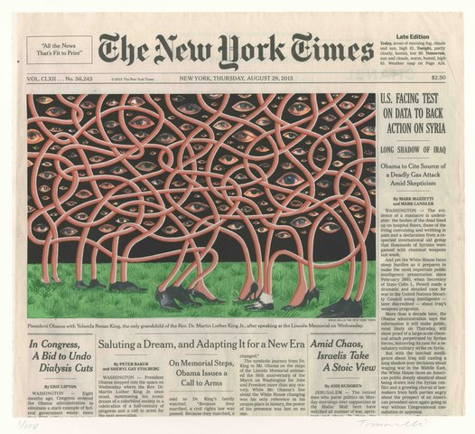 Fred Tomaselli - Aug. 29, 2013