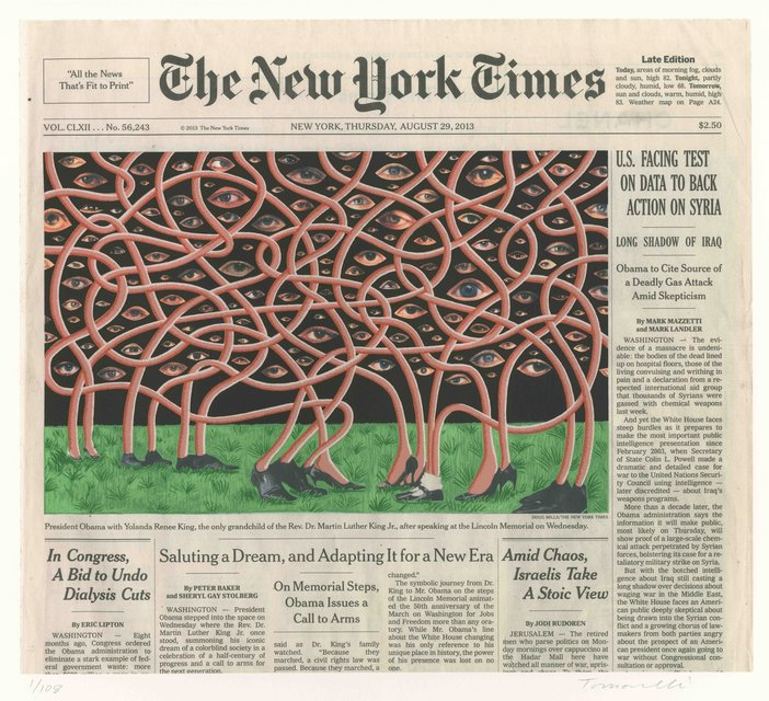 Fred Tomaselli, Aug. 29, 2013
