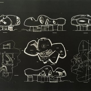"""Frederick Kiesler: An Exhibition of Architecture and Sculpture (Endless House, Plans and Elevations)"", Yale University School of Art and Architecture, New Haven art for sale"