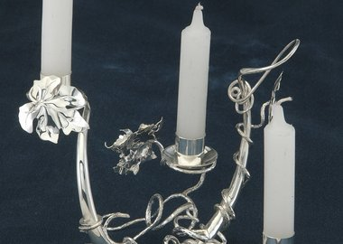 work by Genevieve E. Flynn - Entwined Shabbat Candleholder
