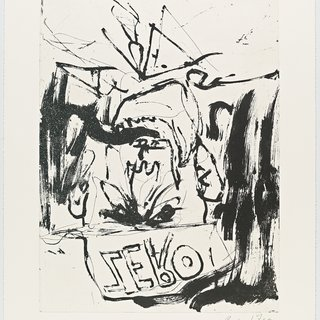 Georg Baselitz, Fare Well Bill (Motiv 3)