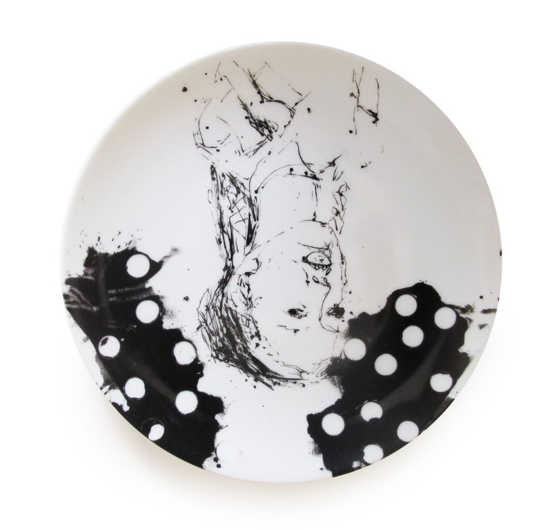 by georg_baselitz - Clara (Set of 2 Plates)