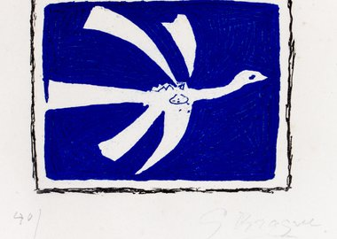 work by Georges Braque - Aout (L'Oiseau) - August (The Bird)