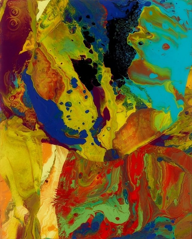 main work - Gerhard Richter, Bagdad (Flow P9)