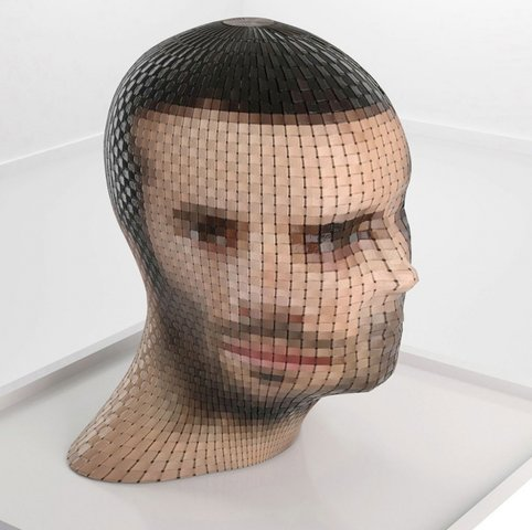 "Gianluca Traina - WATCH ME 1 From the series ""Portrait 360"", Sculpture"