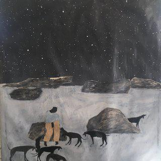 Night Sky/ Calling the Old Hounds art for sale