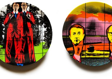 work by Gilbert & George - Flight and Light Headed