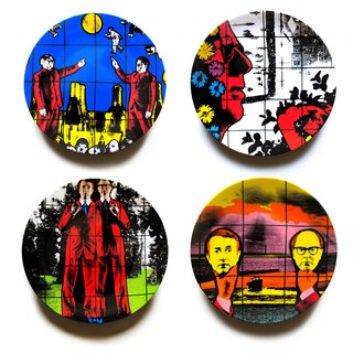 Set of 4 Plates art for sale