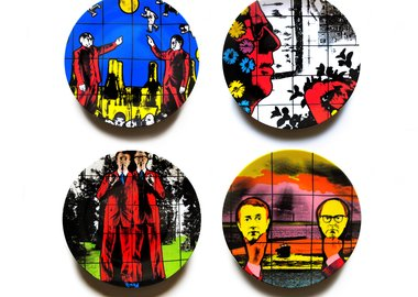 work by Gilbert & George - Set of 4 Plates