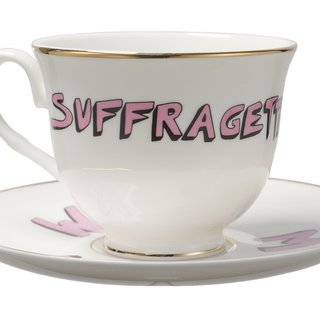 Suffragette City Tea Cup and Saucer art for sale