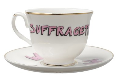 work by Gillian Wearing - Suffragette City Tea Cup and Saucer