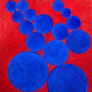 Blue Circles art for sale