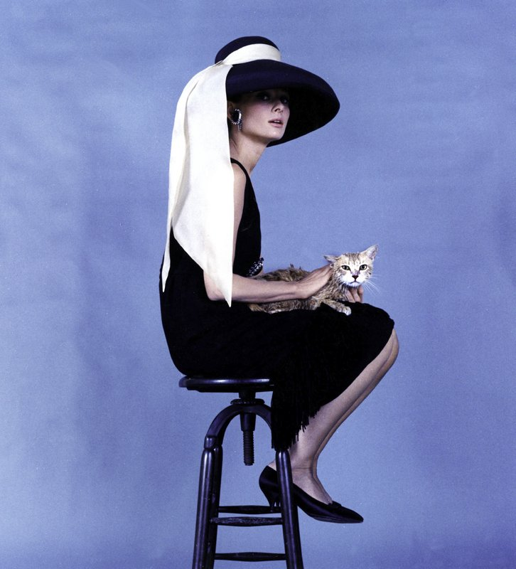 "Globe Photo Agency, Audrey Hepburn on the Set of ""Breakfast at Tiffany's"", Holding a Kitten"
