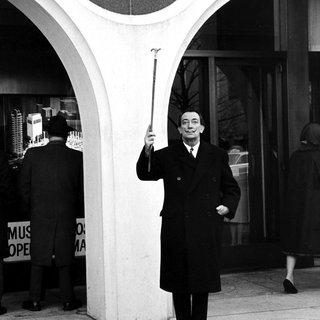 Salvador Dali Holding His Cane art for sale