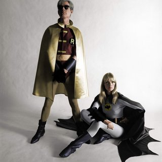 Andy Warhol and Nico as Batman and Robin - Colorized art for sale