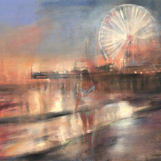 Santa Monica Nocturne art for sale