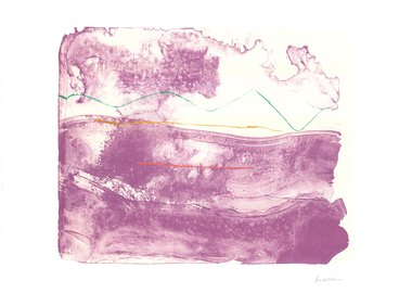 work by Helen Frankenthaler - Lilac Sweep