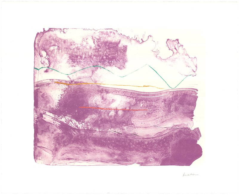 main work - Helen Frankenthaler, Lilac Sweep