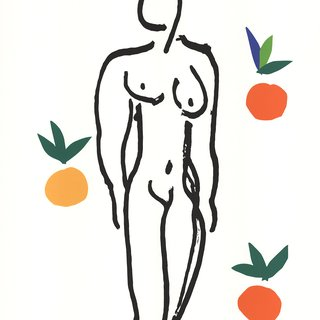 Nude With Fruits art for sale