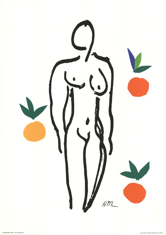 main work - Henri Matisse, Nude With Fruits
