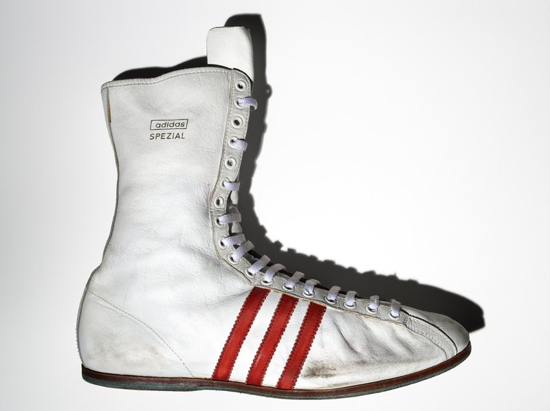 "Henry Leutwyler, Muhammad Ali's Adidas ""Special"" boxing shoe"