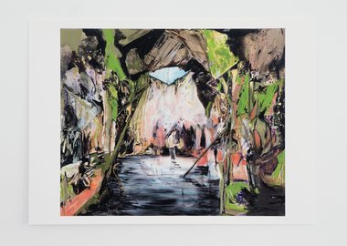 work by Hernan Bas - Wash Up (Cave of Enlightenment)