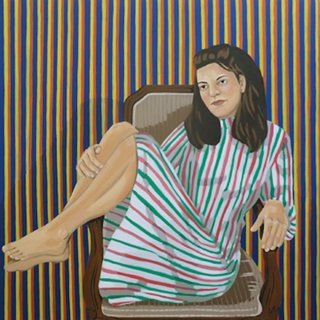 A Girl with Stripes art for sale