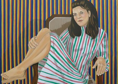work by Holly Coulis - A Girl with Stripes